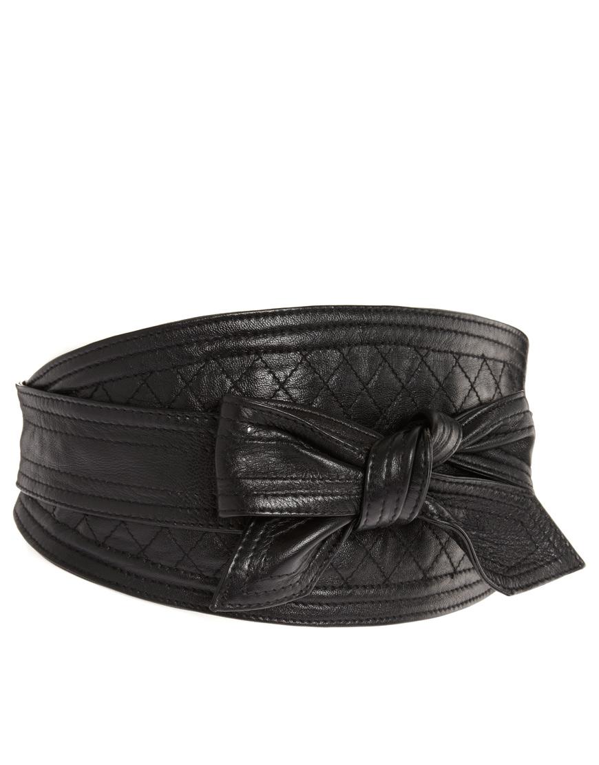 lowie lowie leather obi belt in black lyst