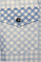 Marc Jacobs Ginghamprint Organza Shirt in Blue - Lyst
