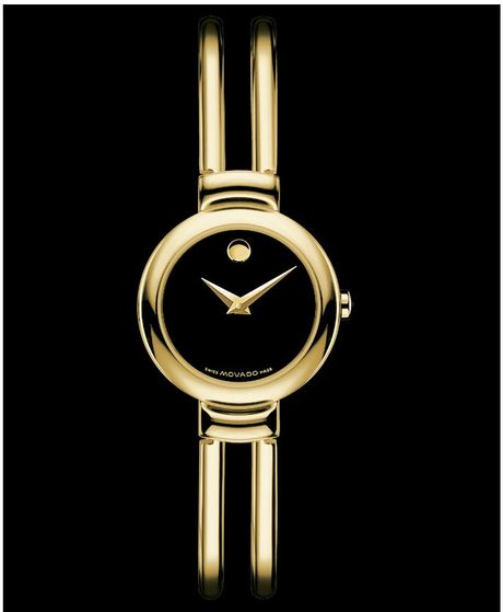 Movado Womens Swiss Harmony Gold Tone Stainless Steel Bracelet 23mm in Gold - Lyst