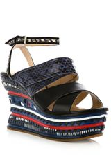 Opening Ceremony Jungle Wedge Sandals in Multicolor (black) - Lyst