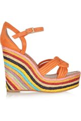 Paloma Barceló Mallorca Knotted Suede Espadrille Sandals in Multicolor (multicolored) - Lyst