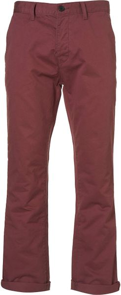 Topman Pink Cotton Slim Chinos in Red for Men - Lyst