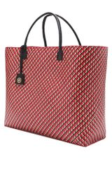 Tory Burch Straw Tote in Red - Lyst