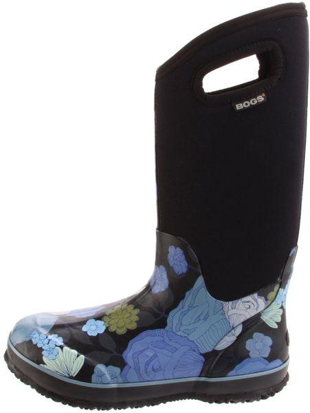 Bogs bogs womens classic high jardin rain boot in black for Bogs classic mid le jardin
