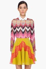 Carven Multicolor Silk Blouse - Lyst