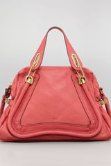 Chloé Paraty Shopper Bag Medium in Red (scarlet red) - Lyst