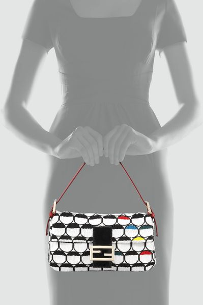 Fendi Optical Beaded Baguette in Multicolor (wht+blk+multi) - Lyst