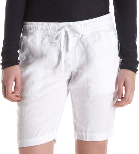James Perse Bermuda Short in White - Lyst