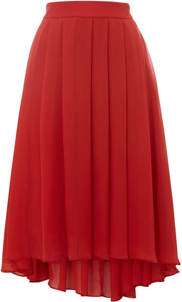 kenneth cole high low skirt in coral lyst