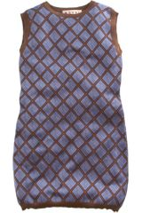 Marni Diamond Knit Dress in Blue - Lyst