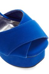 Modcloth Just Got Heel in Cobalt in Blue (cobalt) - Lyst