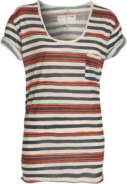 Rag & Bone Pocket Tee in Gray - Lyst