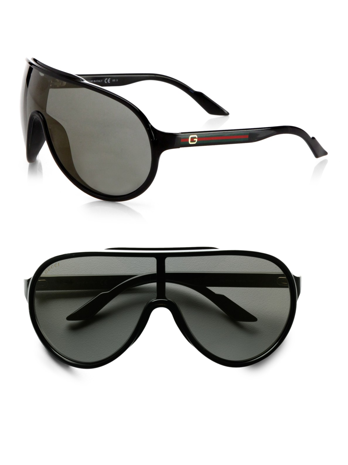 Gucci Shield Sunglasses  gucci plastic shield sunglasses in black for men lyst
