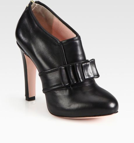 valentino leather buckle ankle boots in black lyst