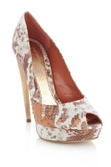 Alexander Mcqueen Degrade Froth Python Shoes in Orange (white) - Lyst