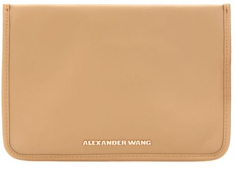 Alexander Wang Prisma Leather Pochette in Pink (camel) - Lyst