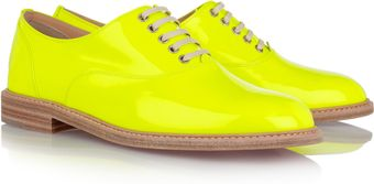 Christian Louboutin Havana Patent Leather Brogues - Lyst