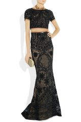 Emilio Pucci Sequined Tulle Maxi Skirt in Black - Lyst