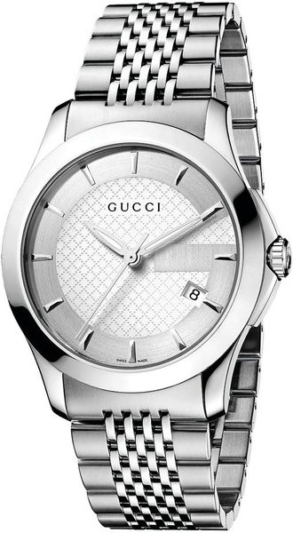 Gucci Mens Swiss Stainless Steel Bracelet Watch in Silver for Men (steel) - Lyst