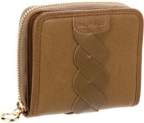See By Chloé See By Chloe Twirl Wallet Zipper in Brown (moss) - Lyst