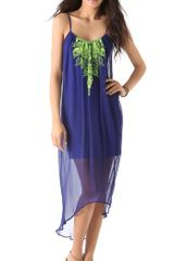 Twelfth Street by Cynthia Vincent Embroidered Cascade Dress - Lyst