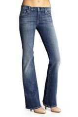 7 For All Mankind Lexie Petite Kimmie Bootcut Jeans in Blue (vintage flash) - Lyst
