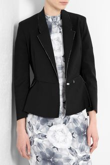 Acne Black Turner Raw Peplum Jacket - Lyst
