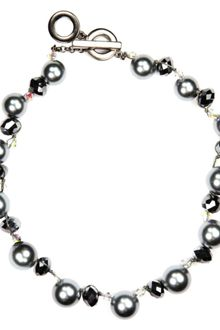 Anne Klein Imitation Pearl and Beaded Collar Necklace - Lyst