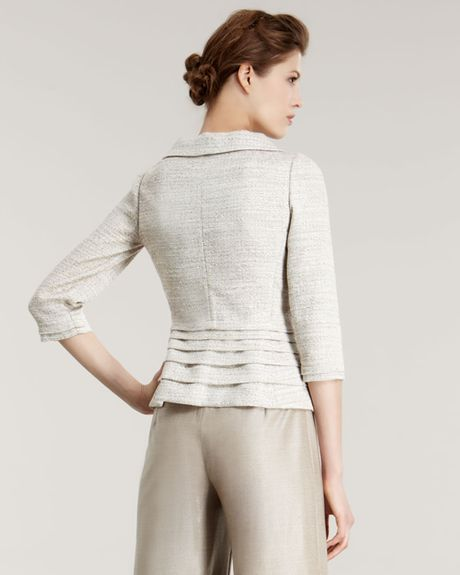 Armani Basketweave Jacket in Beige (cream) - Lyst