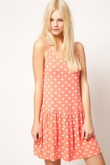 ASOS Collection Asos Dress in Spot Print - Lyst