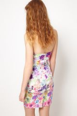 Asos Collection Asos Petite Exclusive Strapless Dress in Floral Print in Multicolor (multi) - Lyst