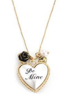 Betsey Johnson Gold Tone Heart Pendant - Lyst
