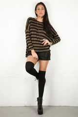 Brian Lichtenberg Brian Lichtenberg Gold Stripes Ghost Sweater in Black (gold) - Lyst