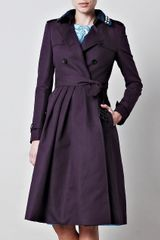 Burberry Prorsum Full Skirted Trench Coat - Lyst