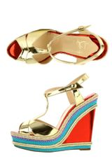 Christian Louboutin Trotolita 140mm Wedges - Lyst