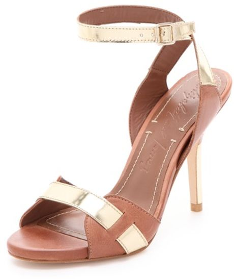 Elizabeth And James Tara High Heel Sandals in Beige (cognac)