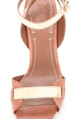 Elizabeth And James Tara High Heel Sandals in Beige (cognac) - Lyst