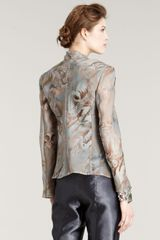 Giorgio Armani Printed Silk Jacket in Multicolor (multi colors) - Lyst