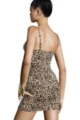H&m Leopard Dress in Beige - Lyst