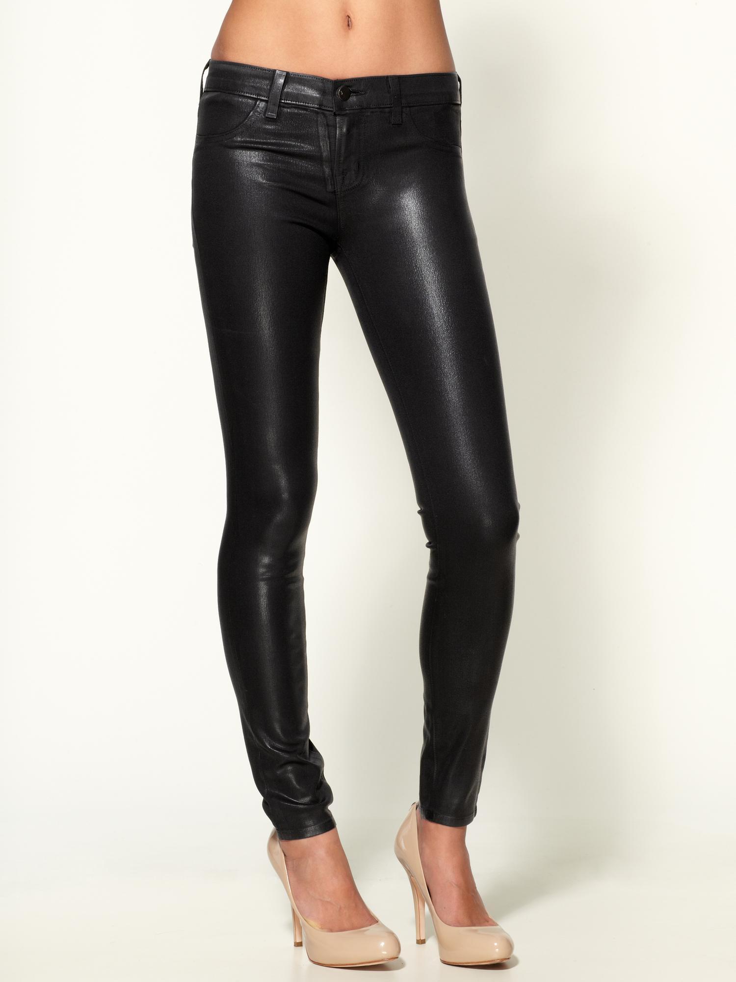 Wax coated jeans women
