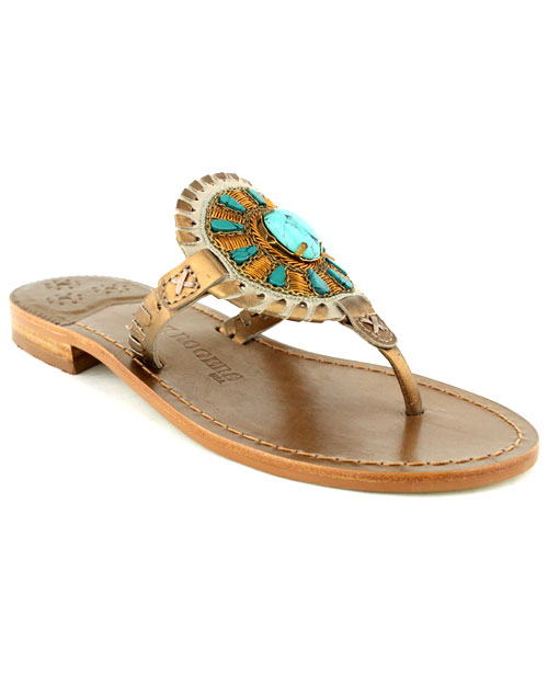 Jack Rogers Georgica Jewel Sandal In Blue Lyst