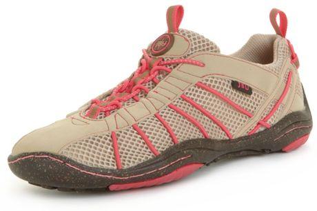 Jambu Jbu 505 Shoes in Brown (tan/coral