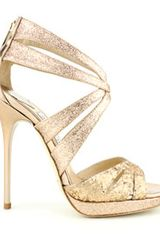 Jimmy Choo Glitter Garland in Gold (nude) - Lyst