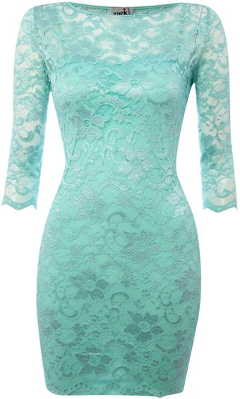 John Zack Lace Bodycon Dress - Lyst