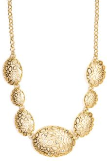 Jones New York Gold Tone Crystal Circle Necklace - Lyst