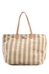 Mango Twotone Striped Shopper Handbag - Lyst