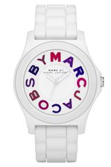 Marc By Marc Jacobs Logo Dial Silicone Watch - Lyst