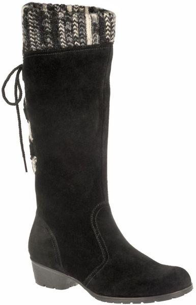 naturalizer haddie boots in black black suede lyst