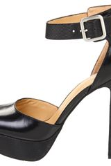 Nine West Secret Weapon Ankle Strap Sandal in Black (black/black leather) - Lyst