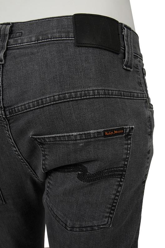 nudie jeans nudie jeans thin finn jean in faded black. Black Bedroom Furniture Sets. Home Design Ideas